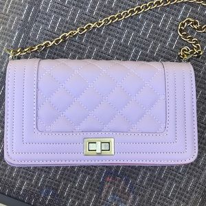 NEW Lavender quilted handbag